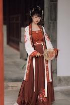 National costume / stage costume Spring 2020 Three piece set [changxizi + songmo + xiaskirt], three piece set [changxizi + songmo + xiaskirt] S,M,L,XL