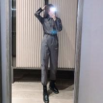 Jumpsuit / pants 51% (inclusive) - 70% (inclusive) Ninth pants other High waist street One piece suit S [suggested 80-100 kg], m [suggested 100-110 kg], l [suggested 110-120 kg], XL [suggested 120-130 kg] routine Spring 2021 Overalls A&HX-0-20 belt