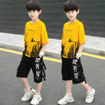 suit ADAM TAIKOO White, red, yellow 120cm,130cm,140cm,150cm,160cm,170cm male summer Korean version Long sleeve + pants 2 pieces routine There are models in the real shooting Single breasted No detachable cap Solid color cotton friend birthday Feiyan Yutong & 0001 Class B Cotton 100% Chinese Mainland