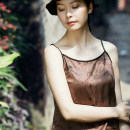 Vest sling Summer of 2018 singleton  routine Self cultivation Original design camisole other 96% and above silk Qiyi