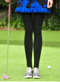 Golf apparel Natural complexion velvet, natural complexion velvet, black velvet, black plush, with black socks Average size female My trousers