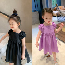 Dress Purple, black, blue female Other / other 80cm,90cm,100cm,110cm,120cm,130cm,140cm Polyester 100% spring and autumn leisure time Short sleeve other other A-line skirt Spell magic-4010 other Three, four, five, six, seven, eight Chinese Mainland Guangdong Province Guangzhou City