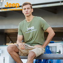 Quick drying T-shirt male Jeep / Jeep 501-1000 yuan M L XL 2XL 3XL 4XL Short sleeve Windproof, breathable, wearable, quick drying, ultra light other Summer 2021 Crew neck Camping, mountain climbing, ice climbing, hiking, rock climbing, beach drifting, skiing, gliding, self driving China other yes