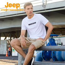 Quick drying T-shirt J122094566 male Tibetan army green mint green white Jeep / Jeep 501-1000 yuan M L XL 2XL 3XL 4XL Short sleeve Air permeability, wear resistance, quick drying and super light others Summer 2021 Crew neck China Straight cylinder nylon printing Outdoor travel