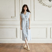 Dress Summer 2020 Kobayashi's light blue dress , Kobayashi Tibetan blue dress S,M,L 020HX0703