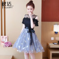 Dress Summer of 2019 S M L XL Mid length dress singleton  Short sleeve commute Crew neck High waist Solid color Socket A-line skirt routine Others 25-29 years old Type A Autumn comfort Korean version More than 95% other Other 100% Pure e-commerce (online only)