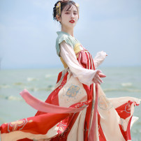 Hanfu 51% (inclusive) - 70% (inclusive) Full set of three piece set (3 meters inside and 3 meters outside) in stock, full set of three piece set (3 meters inside and 6 meters outside) in stock, full set of three piece set (6 meters inside and 6 meters outside) in stock S,M,L polyester fiber