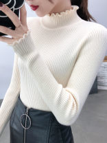 sweater Autumn of 2019 S M L XL White black light coffee beige beige Long sleeves Socket singleton  Super short other 95% and above Half high collar commute other Solid color Self cultivation Keep warm and warm 18-24 years old Goethe Other 100% Exclusive payment of tmall