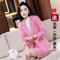 Professional dress suit S,M,L,XL,XXL,XXXL,4XL Autumn 2020 Long sleeves loose coat Suit skirt 25-35 years old 71% (inclusive) - 80% (inclusive) polyester fiber