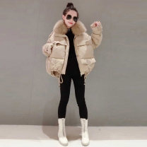 Down Jackets Winter 2020 halo story Apricot S,M,L White duck down 90% have cash less than that is registered in the accounts Long sleeves thickening zipper street routine Straight cylinder Solid color Y19X4313DP54 Zipper, pocket 81% (inclusive) - 90% (inclusive) Europe and America