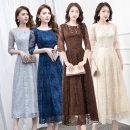 Dress / evening wear Date, routine, party, wedding, company annual meeting, adult ceremony, performance XXL,XXXL,XS,S,M,L,XL Gray, black, champagne, lake blue, Navy, coffee, nude pink fashion Medium length High waist Autumn of 2019 Self cultivation U-neck zipper 18-25 years old S5 elbow sleeve