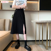 skirt Summer 2020 S M L Black apricot longuette commute High waist A-line skirt Solid color Type A 18-24 years old BSBY20200630D01 81% (inclusive) - 90% (inclusive) Basabai polyester fiber Button Polyester 90% other 10% Pure e-commerce (online only)