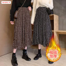 skirt Winter 2020 Average size (within 80kg ~ 130kg) Black [velvet lining] coffee [velvet lining] Mid length dress commute High waist A-line skirt Broken flowers Type A 18-24 years old BSBY20201108T09 More than 95% other Basabai other Patchwork printing Korean version Other 100%