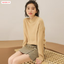 Wool knitwear Autumn of 2019 Average size (within 80kg ~ 130kg) White black Khaki Long sleeves singleton  Socket other More than 95% Regular routine commute Self cultivation Half height crew neck routine Solid color Socket Korean version 18-24 years old Basabai Resin fixation Polyester 100%