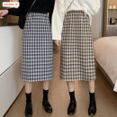 skirt Autumn of 2019 Average size longuette commute High waist skirt lattice Type A 25-29 years old More than 95% other Basabai polyester fiber zipper Polyester 100% Pure e-commerce (online only)
