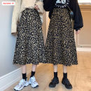skirt Winter 2020 S M L Dark light Mid length dress commute High waist A-line skirt Leopard Print Type A 18-24 years old BSBY20201111T08 More than 95% other Basabai other Splicing Korean version Other 100% Pure e-commerce (online only)