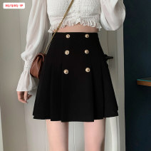 skirt Spring 2021 S M L XL black Short skirt commute High waist A-line skirt Solid color Type A 18-24 years old BSBY20210219T14 More than 95% other Basabai other Pleated pocket with zipper stitching Korean version Other 100% Pure e-commerce (online only)
