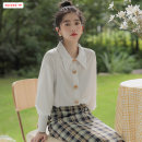 shirt white Average size (within 80kg ~ 130kg) Winter 2020 other 96% and above Long sleeves commute Regular Polo collar Single row multi button routine Solid color 18-24 years old Straight cylinder Basabai Korean version BSBY20201225T09 Stitching buttons Other 100% Pure e-commerce (online only)