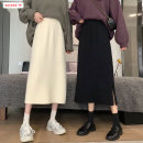 skirt Winter 2020 Average size (within 80kg ~ 130kg) Black beibai Pink Mid length dress commute High waist A-line skirt Solid color Type A 18-24 years old BSBY20201111T12 More than 95% knitting Basabai other Resin fixation splicing Korean version Other 100% Pure e-commerce (online only)