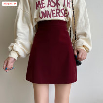 skirt Spring 2021 S M L XL Short skirt commute High waist A-line skirt Solid color Type A 18-24 years old More than 95% other Basabai other Zipper stitching Korean version Other 100% Pure e-commerce (online only)