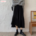 skirt Winter of 2019 Average size (within 80kg ~ 130kg) Black grey Mid length dress commute High waist Pleated skirt Solid color Type A 18-24 years old BSBY20191123T05 More than 95% other Basabai polyester fiber Fold splicing Korean version Polyester 100% Pure e-commerce (online only)