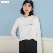 T-shirt White black yellow Average size (within 80kg ~ 130kg) Autumn of 2019 Long sleeves Crew neck easy Regular routine commute polyester fiber 96% and above 18-24 years old Korean version youth Letter solid color Basabai BSBY20190720T03 Print stitching Polyester 100% Pure e-commerce (online only)