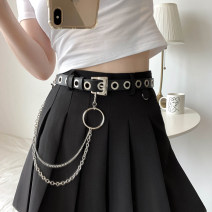 Belt / belt / chain Pu (artificial leather) currency belt Versatile Single loop Youth Pin buckle rivet soft surface 2.2cm alloy Rivet chain Wet beauty F165 Summer 2020