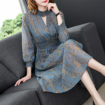 Women's large Autumn of 2019 Decor S M L XL 2XL Dress singleton  commute Self cultivation moderate Socket Nine point sleeve other Ol style other Medium length other other QHG201622 Qianhua song 35-39 years old 96% and above Medium length Other 100% Pure e-commerce (online only) other
