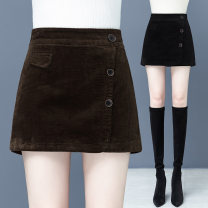 Casual pants Black, brown 26/S,27/M,28/L,29/XL,30/2XL,31/3XL Winter 2020 shorts Wide leg pants High waist commute routine 35-39 years old 96% and above SYK-2805Y# Other / other corduroy Korean version pocket cotton