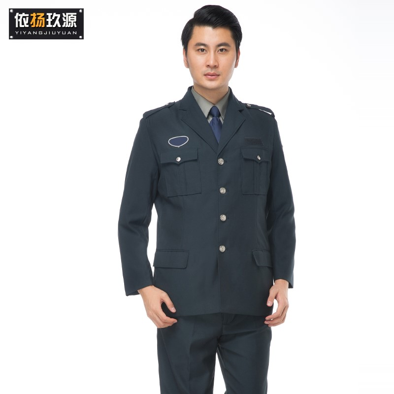 Work uniform Navy suit Navy jacket dark green suit dark green jacket Other / other 160/S 165/M 170/L 175/XL 180/XXL 185/XXXL 190/XXXXL security staff BA 056 suit autumn go to work Security property Cotton blended fabric Polyethylene terephthalate (polyester) 100% youth