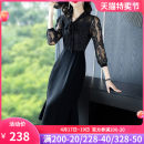 Dress Summer 2020 Black and white - quarter sleeve 8982 same - short sleeve S M L XL XXL 3XL Mid length dress singleton  three quarter sleeve commute V-neck High waist other Socket Ruffle Skirt routine Others 35-39 years old Type A Yi meichu Retro Bowknot stitching YW-8869 More than 95% other other