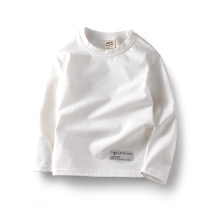 T-shirt 3362 off white Chu Tian 110cm 120cm 130cm 140cm 150cm 160cm male spring and autumn Long sleeves Crew neck leisure time No model nothing Pure cotton (100% cotton content) Solid color Cotton 100% hq19h3362 Class B Sweat absorption Autumn of 2019 Chinese Mainland Guangdong Province