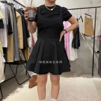 Dress Winter 2020 black S, M Middle-skirt singleton  Long sleeves street middle-waisted Solid color Socket routine camisole 25-29 years old Type X Pockets, stitching A041506AH04 30% and below cotton neutral