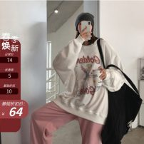 Sweater / sweater Spring 2021 white S,M,L Long sleeves routine Socket singleton  routine Crew neck easy commute other letter 18-24 years old 71% (inclusive) - 80% (inclusive) Other / other Korean version cotton printing cotton Cotton liner