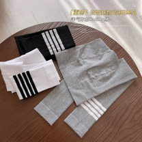 trousers Other / other female M (order according to size chart), l (order according to size chart), XL (order according to size chart), XXL (order according to size chart) Gray, white, black spring and autumn trousers Korean version Leggings Leather belt middle-waisted cotton Don't open the crotch