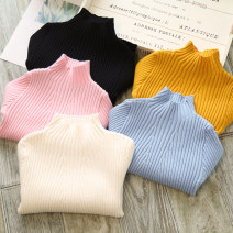 Sweater / sweater 7 (recommended height 95cm), 9 (recommended height 100cm), 11 (recommended height 110cm), 13 (recommended height 120cm), 15 (recommended height 125cm) other female Off white, black, pink, yellow, blue Other / other Korean version No model Socket routine Crew neck nothing Solid color