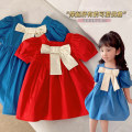 Dress Red, blue female Other / other 5 (order according to size chart), 7 (order according to size chart), 9 (order according to size chart), 11 (order according to size chart), 13 (order according to size chart) Other 100% summer Korean version Short sleeve Solid color other other BQZ4381 other