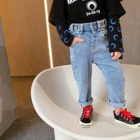 trousers Other / other female blue spring and autumn trousers Korean version There are models in the real shooting Jeans Leather belt middle-waisted cotton Don't open the crotch other Other models 2 years old, 3 years old, 4 years old, 5 years old, 6 years old, 7 years old, 8 years old