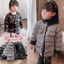 Cotton padded jacket female nothing other Other / other thickening Single breasted Korean version There are models in the real shooting lattice cotton other Crew neck Cotton liner 2 years old, 3 years old, 4 years old, 5 years old, 6 years old, 7 years old