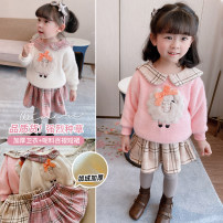 suit Other / other Pink suit, off white suit 5 (order according to size chart), 7 (order according to size chart), 9 (order according to size chart), 11 (order according to size chart), 13 (order according to size chart) female winter leisure time Long sleeve + skirt 2 pieces routine Socket nothing