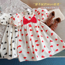 Dress Red, black female Other / other 5 (order according to size chart), 7 (order according to size chart), 9 (order according to size chart), 11 (order according to size chart), 13 (order according to size chart) Other 100% summer Korean version Short sleeve love other A-line skirt AQZ529 other