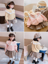 suit Other / other Pink suit, yellow suit 5 (order according to size chart), 7 (order according to size chart), 9 (order according to size chart), 11 (order according to size chart), 13 (order according to size chart) female winter leisure time Long sleeve + skirt 2 pieces routine Single breasted