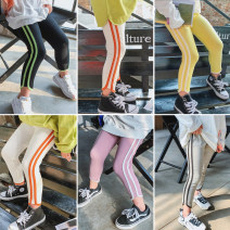 trousers Other / other female 5 (recommended height 90-100cm), 7 (recommended height 100-102cm), 9 (recommended height 105-110cm), 11 (recommended height 110-115cm), 13 (recommended height 115-125cm) White, gray, purple, yellow, black spring and autumn trousers Korean version Leggings Leather belt
