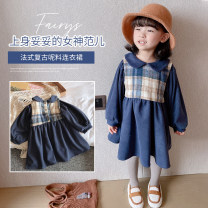 Dress As shown in the picture female Other / other 5 (recommended height 85-92cm), 7 (recommended height 92-100cm), 9 (recommended height 100-107cm), 11 (recommended height 107-112cm), 13 (recommended height 113-119cm), 15 (recommended height 120-125cm) Other 100% winter Korean version Long sleeves