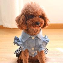 Pet clothing / raincoat currency Dress Doto doto princess Denim cotton