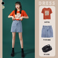 skirt Spring 2021 S M L XL blue Short skirt commute High waist Denim skirt Solid color Type A 18-24 years old YSSH17072 Denim No. thirteen pocket Pure e-commerce (online only)
