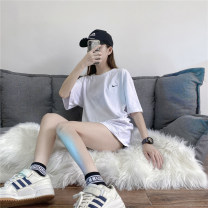 T-shirt White black S M L XL 2XL 3XL Winter 2020 Short sleeve Crew neck easy Regular routine street other 96% and above 25-29 years old classic Solid color Bekage Other 100% Pure e-commerce (online only) Sports & Leisure
