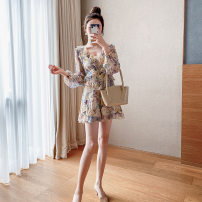 Casual pants Picture color (Jumpsuit) picture (dress) S M L XL Summer 2021 shorts Wide leg pants High waist commute Thin money 18-24 years old YF2030 A concubine other Korean version printing and dyeing Other 100% Pure e-commerce (online only)