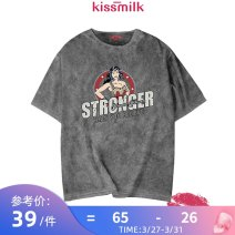 Women's large Summer 2020 2XL 3XL 4XL 5XL 6XL T-shirt singleton  commute easy moderate Socket Short sleeve Cartoon animation Simplicity Crew neck routine cotton routine kiss milk 18-24 years old 96% and above Cotton 100% Pure e-commerce (online only)