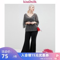 Women's large Summer of 2019 grey US14 (bust 114, length 47, recommended 140-158 kg) us16 (bust 122, length 49, recommended 158-168 kg) us18 (waist 130, length 51, recommended 168-178 kg) us20 (bust 138, length 53, recommended 178-208 kg) US22 (bust 146, length 55, recommended 208 kg or above) shirt